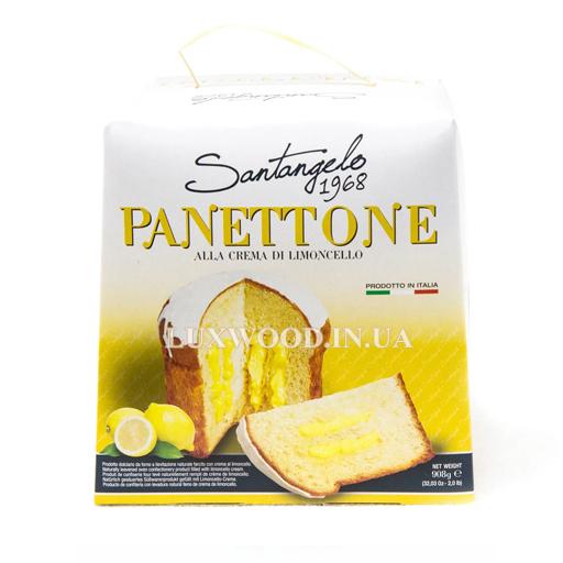Італійська паска панеттоне Santangelo Panettone з лимонним кремом 908 гр.
