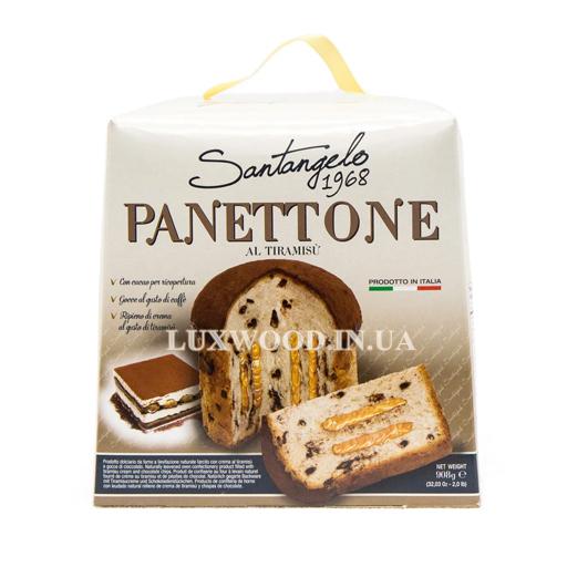 Купити італійську паску панеттоне Santangelo Panettone з кремом тірамісу, 908 гр.