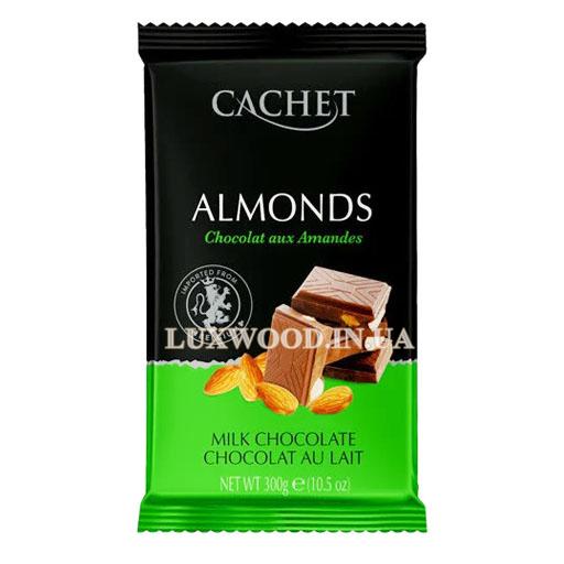 Молочний шоколад Almonds Cachet №42 з мигдалем, 300 гр.